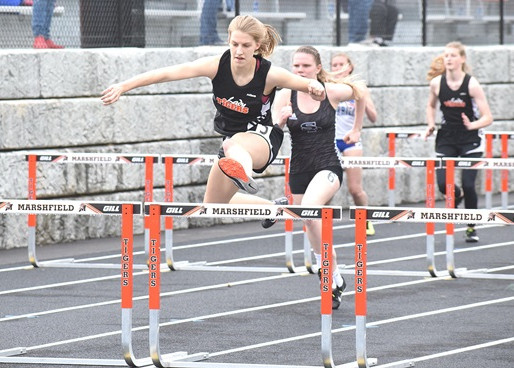 MARSHFIELD GIRLS TRACK WINS NINE EVENTS, TEAM TITLE AT FIRST HOME MEET AT HEITING STADIUM