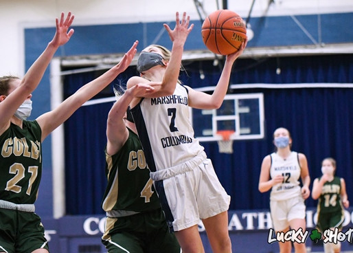COLUMBUS CATHOLIC GIRLS BASKETBALL TOPS GILMAN FOR FIFTH-STRAIGHT WIN