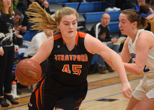 STRATFORD GIRLS BASKETBALL DOWNS ATHENS, CLIMBS INTO FIRST PLACE TIE IN MARAWOOD SOUTH