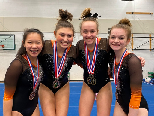 MARSHFIELD GYMNASTICS TAKES TEAM TITLE AT RHINELANDER SNOWFLAKE INVITE