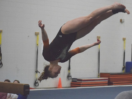 MARSHFIELD GYMNASTICS TOPS STEVENS POINT, GRABS SOLE POSSESSION OF GNC LARGE LEAD