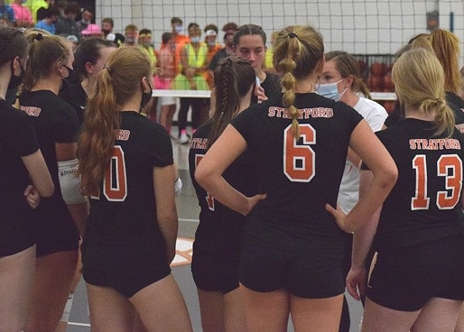 STRATFORD VOLLEYBALL EARNS COMEBACK WIN AT COLBY