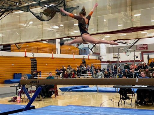 MARSHFIELD GYMNASTICS STAYS UNBEATEN WITH DUAL WIN AT ANTIGO
