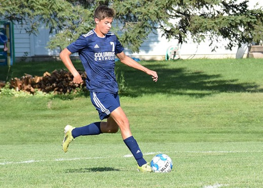 COLUMBUS CATHOLIC SOCCER EARNS ROAD WIN AT AMHERST, NOW 5-0 IN CWC