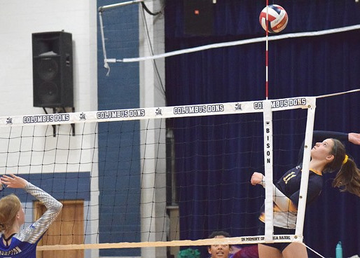 COLUMBUS CATHOLIC VOLLEYBALL CLINCHES TIE FOR CLOVERBELT EAST TITLE WITH SWEEP OF SPENCER
