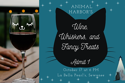 Wine, Whiskers, and Fancy Treats Ticket