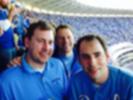 Tower brothers at the Royals Wild Card game in 2014