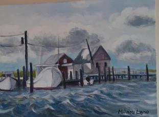#3 Miharu oil on canvas Saxis Harbor  9