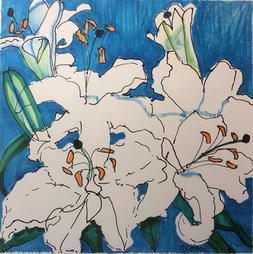 white lillies in July - Penny Ross.jpg