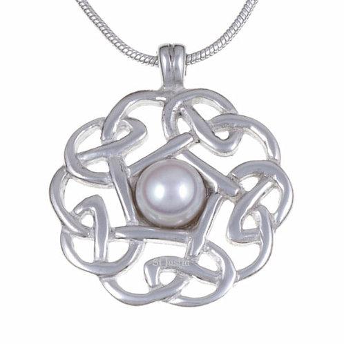 Pendentif Nœud Celtique perle d'eau douce