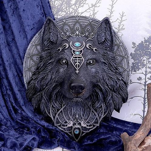 Splendide applique murale tête de loup