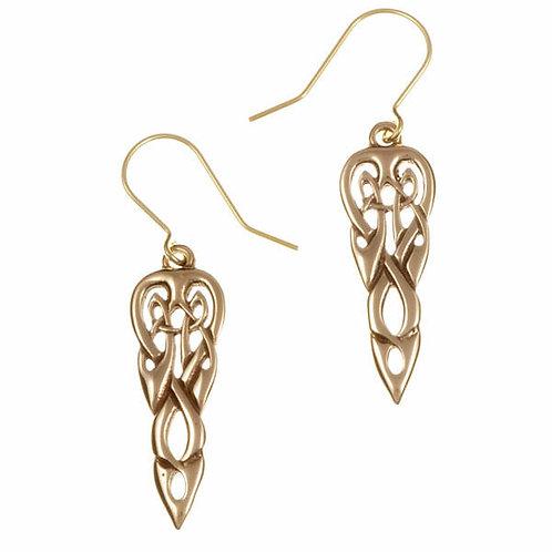 Boucles d'oreilles entrelacées en bronze
