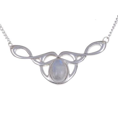 Keltische Mondstein-Halskette