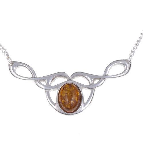 Bernsteinfarbige keltische Halskette