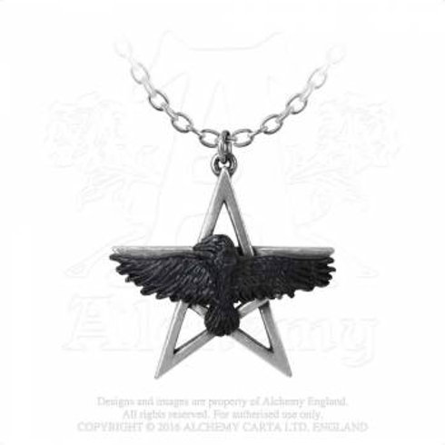 Pentacle Crow-Halskette