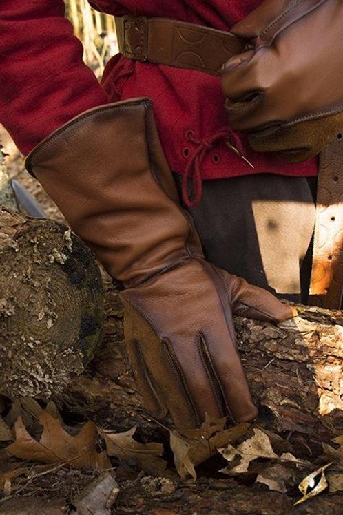Long gants de cuir