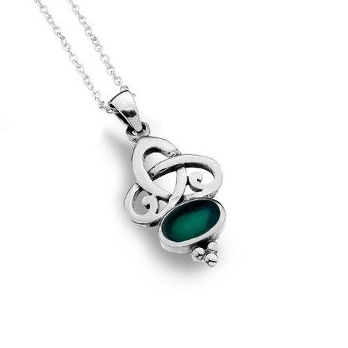 Keltische Malachit-Halskette