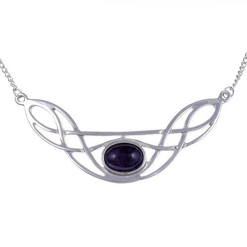 Keltische Amethyst-Halskette