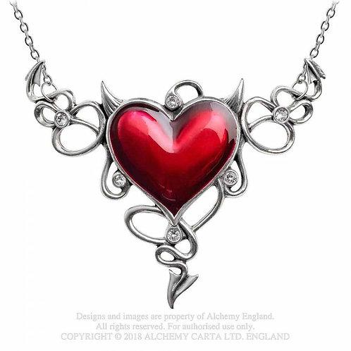 Teufel Herz Halskette