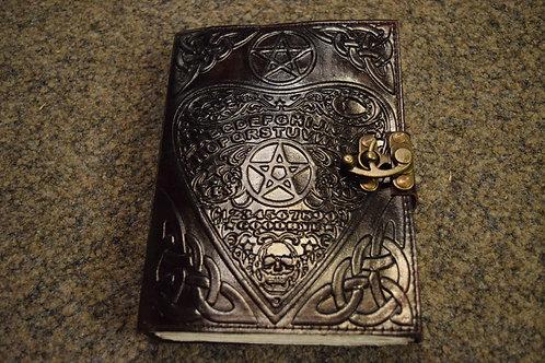 Carnet en cuir noir Ouija