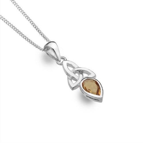 Citrin-Triquetra-Halskette
