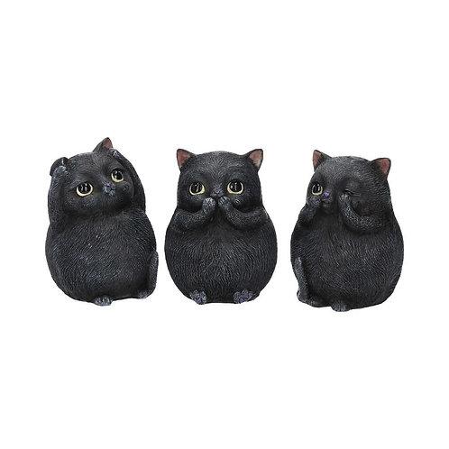 Set de 3 petits chats