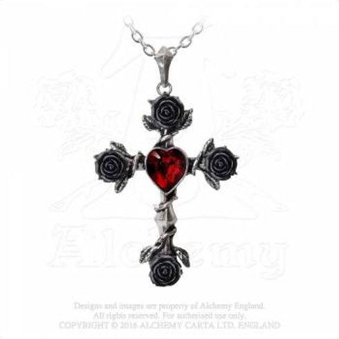 Collier Croix Roses