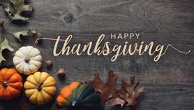 Thanksgiving Buffet / Potluck -  Sunday, November 17 after Morning Worship