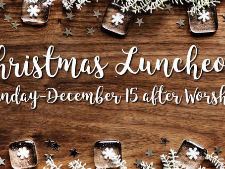 Celebrate Christmas Luncheon