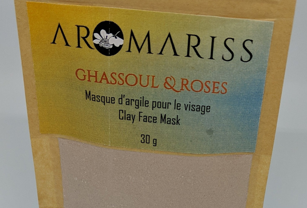 Clay Mask - Ghassoul & Rose