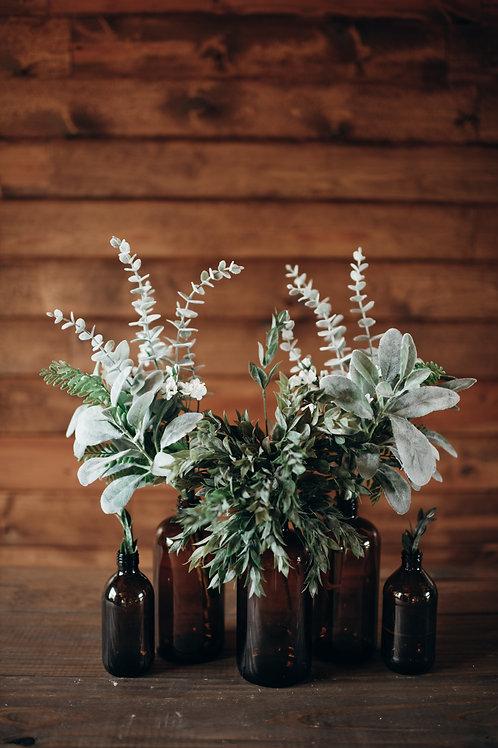 Brown Glass Vase