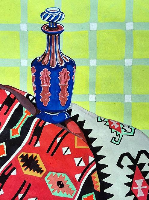 Moroccan Rug & Venetian Glass