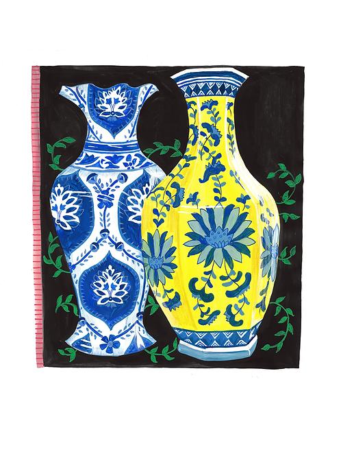 Yellow & Blue Vase