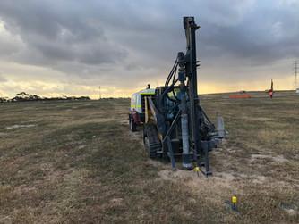 Tailem Bend Solar Farm, 8000 rock holes