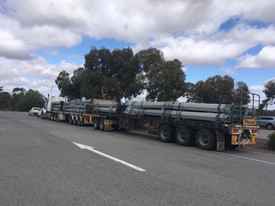 Woomera airport - 3700 fence posts on their way
