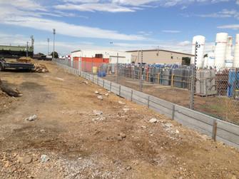 Carpark retaining wall, Derrimut VIC