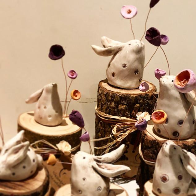 ognuno fiorisce a modo suo - coniglietti in festa
