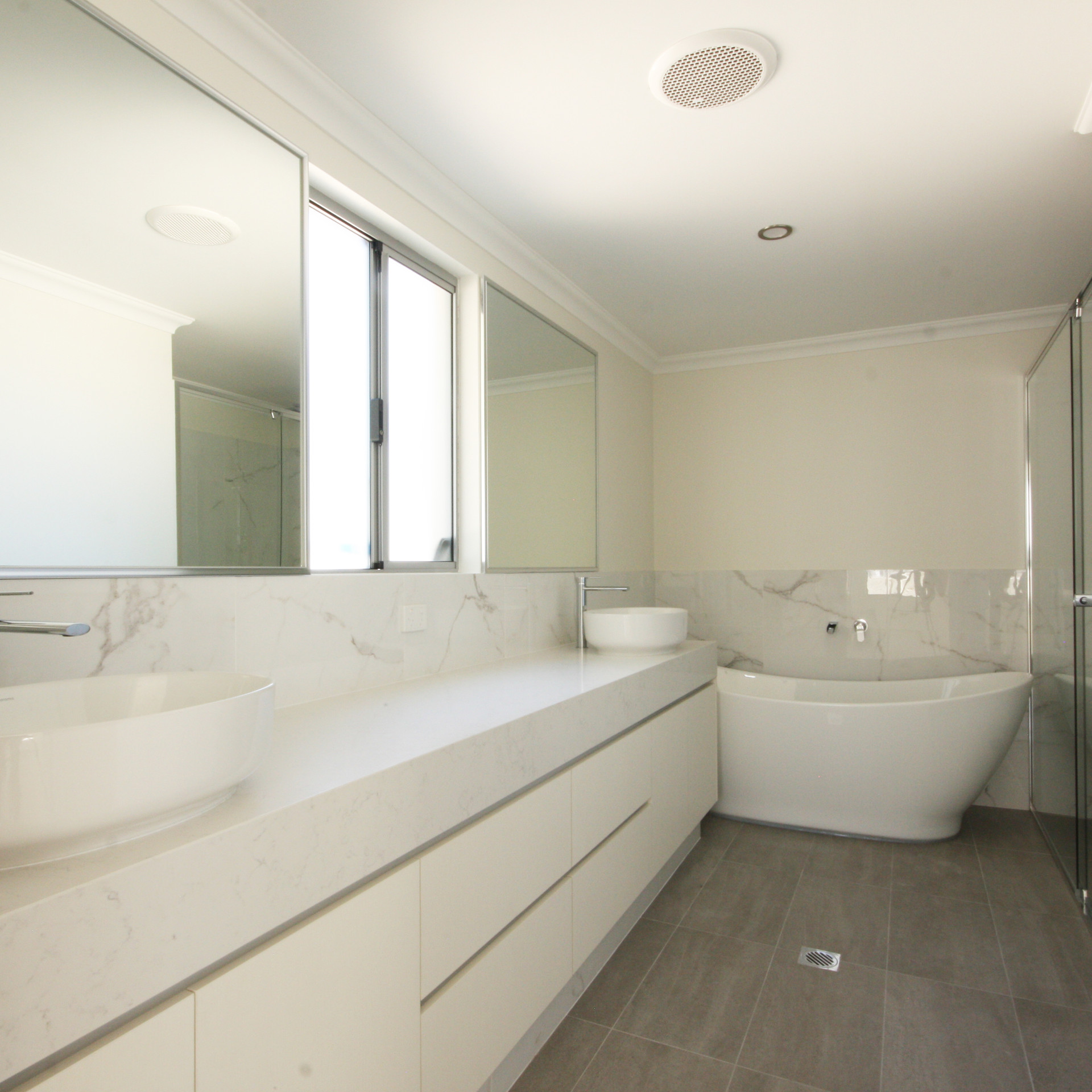 Modern White Bathroom Vanity East Victoria Park, Perth