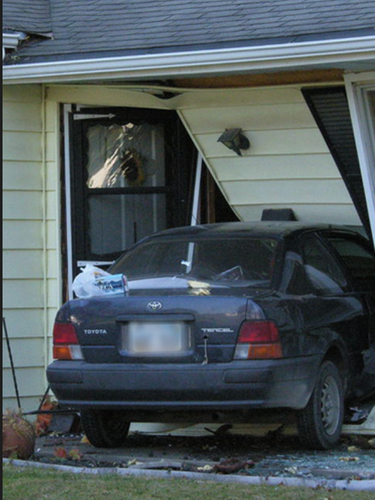 WHEN I WAS 15, I DROVE THROUGH MY LIVING ROOM THE DAY I GOT MY LEARNER'S PERMIT TO DRIVE. RIGHT THROUGH THE DAMN HOUSE. I CRIED. MY MOM CRIED. MY SISTER CRIED. MY BROTHER LAUGHED.