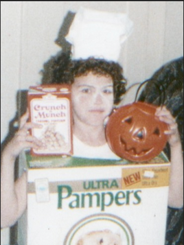 MY MOM DRESSED ME AS GARBAGE FOR HALLOWEEN WHEN I WAS 9 YEARS OLD.