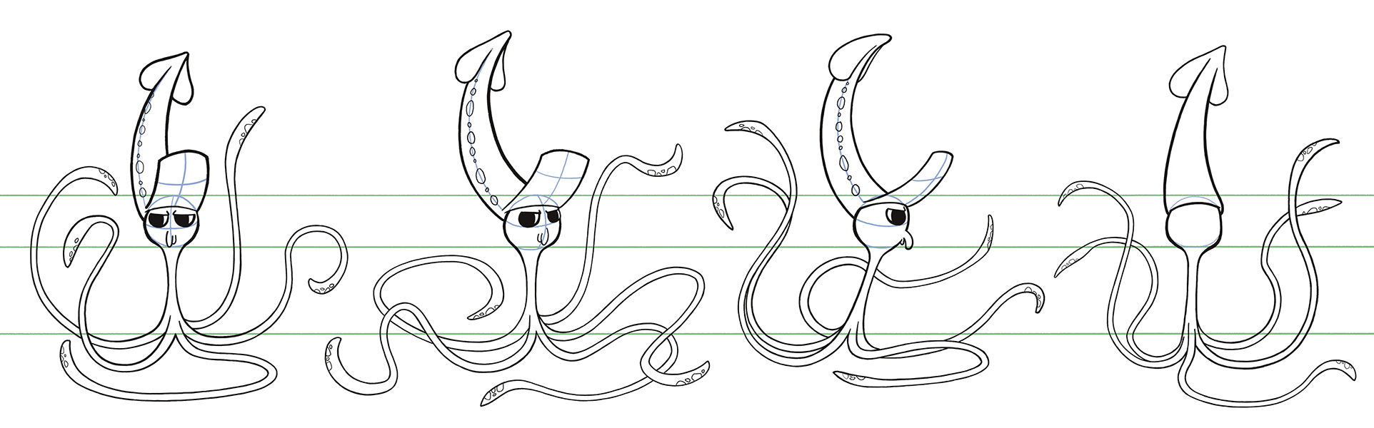 The Squid - Model Sheet
