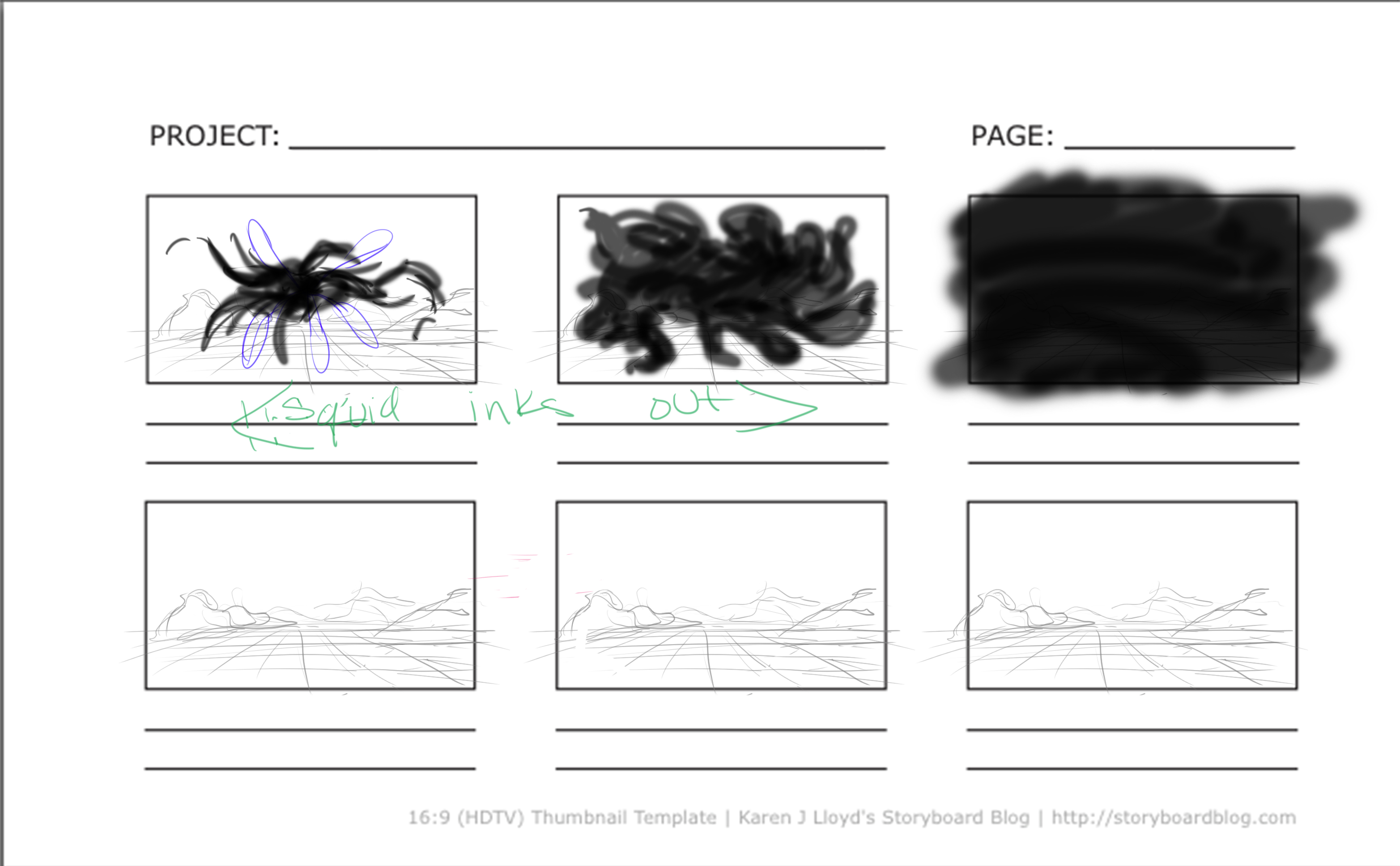 Storyboards 3 - The Squid