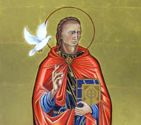 St David or Dewi Sant, patron saint of Wales