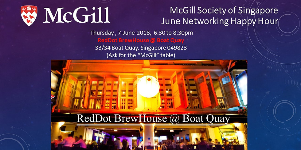 McGill Society of Singapore June Networking Happy Hour