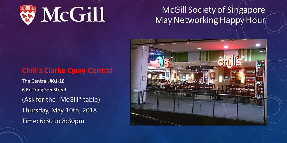 McGill Society of Singapore May Networking Happy Hour
