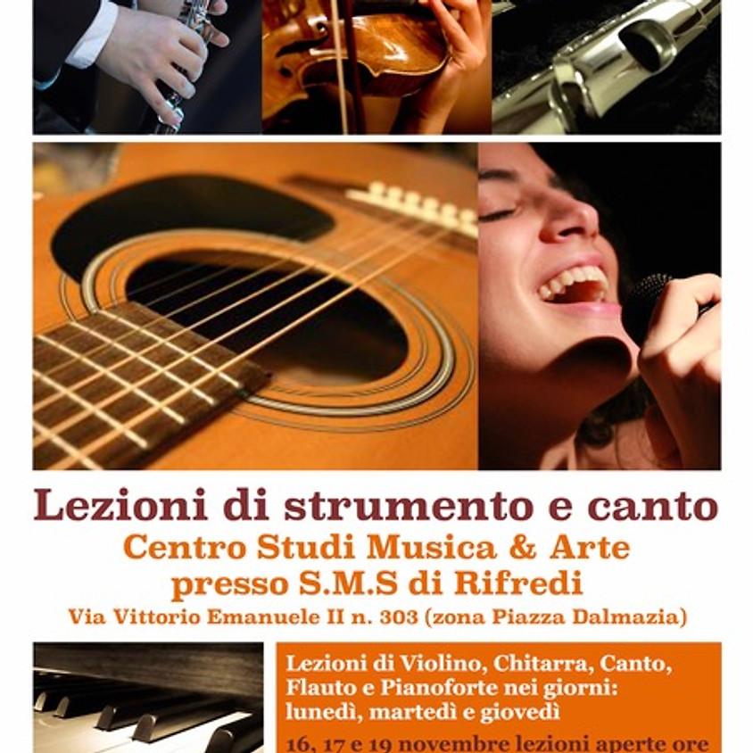 Lezioni di strumento e canto all'S.M.S. di Rifredi