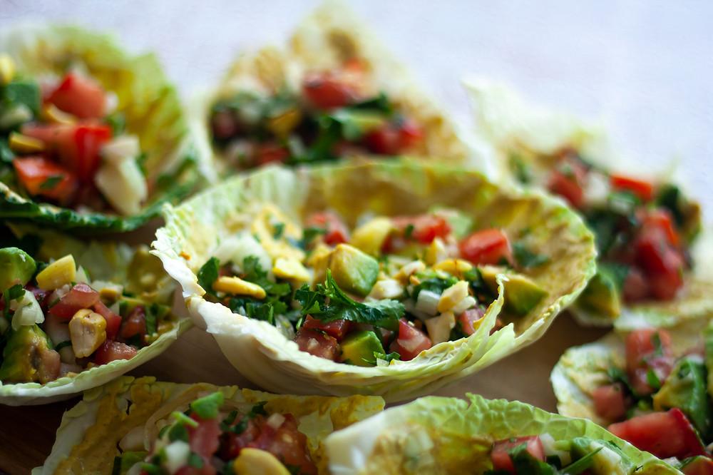 Raw vegan healthy tacos