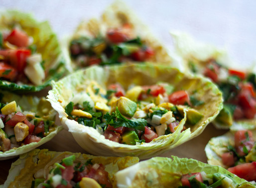 Raw Tacos with Pili Nut Sauce