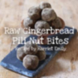 Raw gingerbread Pili nut bites