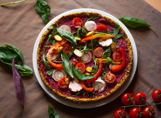 Raw Vegan Pizza with Pili Nuts